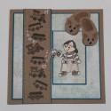 """Set de tampons transparents """"Boy with Train"""" de By Lene Stamps"""
