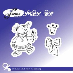 "Set de tampons transparents ""Girl with Bow"" de By Lene Stamps"
