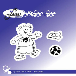"Set de tampons transparents ""Boy with Football "" de By Lene Stamps"