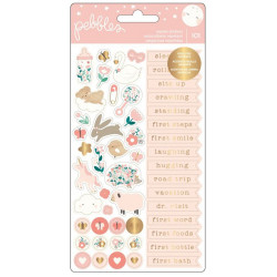 "Pochette de stickers ""Night Night Baby Girl"" de Pebbles"