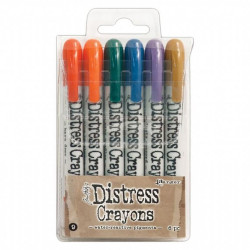"Coffret ""Tim Holtz distress crayons set 9"" de Ranger"