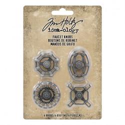 Pochette de 4 faucet knobs Idea-ology Tim Holtz de Ranger