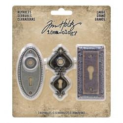 Pochette de 3 large keyholes Idea-ology Tim Holtz de Ranger