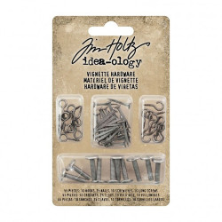 "set d'embellissement "" vignette hardware pack Idea-ology Tim Holtz"" de Ranger (55pcs)"