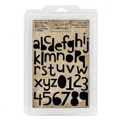 Set de tampons caoutchouc monté mousse Alphabet majuscule Idea-ology Tim Holtz de Ranger