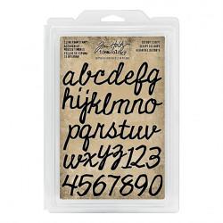 Set de tampons caoutchouc monté mousse Alphabet script Idea-ology Tim Holtz de Ranger