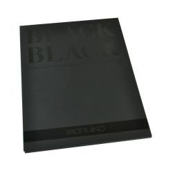 """Bloc Papier """"Black Black"""" (24x32 cm) de Fabriano (20 feuilles)"""