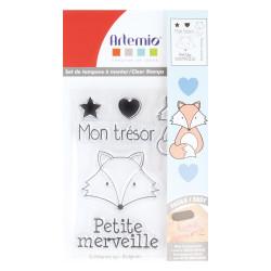 Set de Mini tampons transparents Mon trésor Planche 7 x 9 cm ARTEMIO