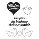 Set de Mini tampons transparents Tendres pensées Planche 7 x 9 cm ARTEMIO