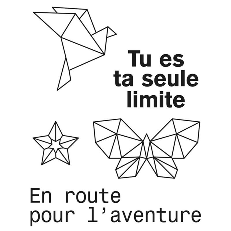 Set de Mini tampons transparents Aventure Planche 7 x 9 cm ARTEMIO
