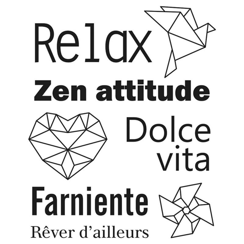 Set de Mini tampons transparents Relax Planche 7 x 9 cm ARTEMIO