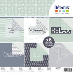 "Bloc de 6 feuilles recto verso 30x30 cm ""Origami"" d'Artemio"