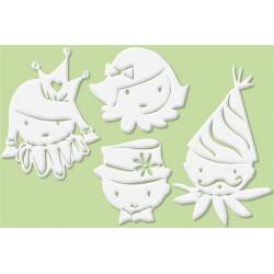 Set de 4 grands motifs Dentelle de bois Chenapans