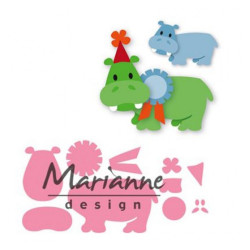 "Die Collectable ""Eline's happy hippo"" de Marianne Design"