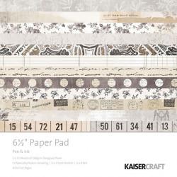 """Paper pad """"Pen & ink"""" de kaisercraft en 15x15"""