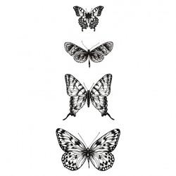 """Set de 4 tampons transparents """"papillons"""" de Kaisercraft"""