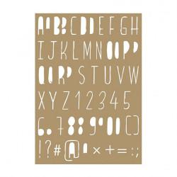 """Pochoir """"Alphabet"""" 10,5 x 14,8 cm de Joy!Crafts"""